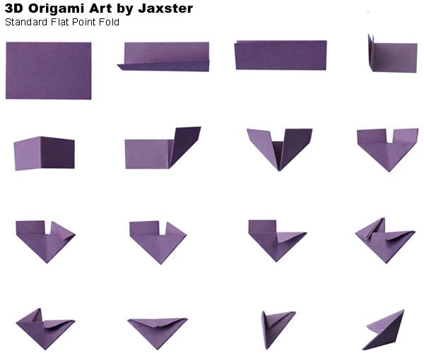 instructions � standard flat point fold 3d origami art