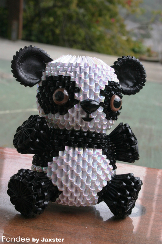 Origami panda 3d | origami 3d gifts.