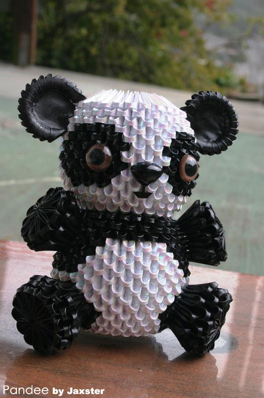 3D Origami Panda By Jaxster
