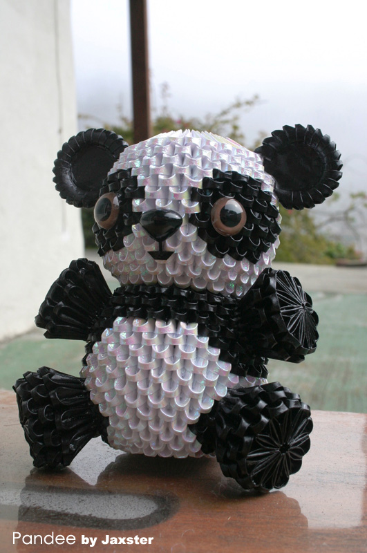3d Origami Panda 3d Origami Art