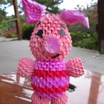 3d Origami Piglet by Jaxster