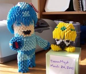 Megaman and Mettaur 3D Origami by ~o0DreamMyst0o