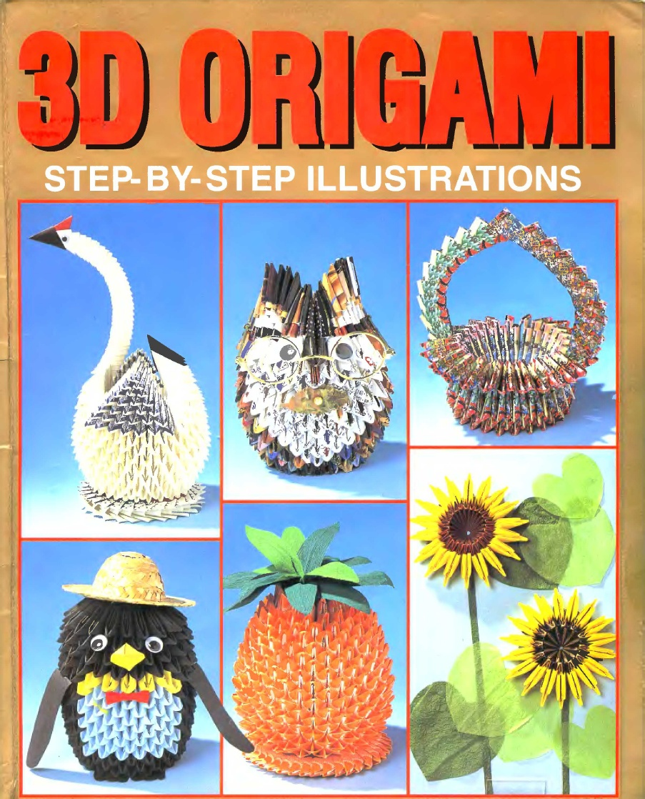 3d origami book on 3d origami art