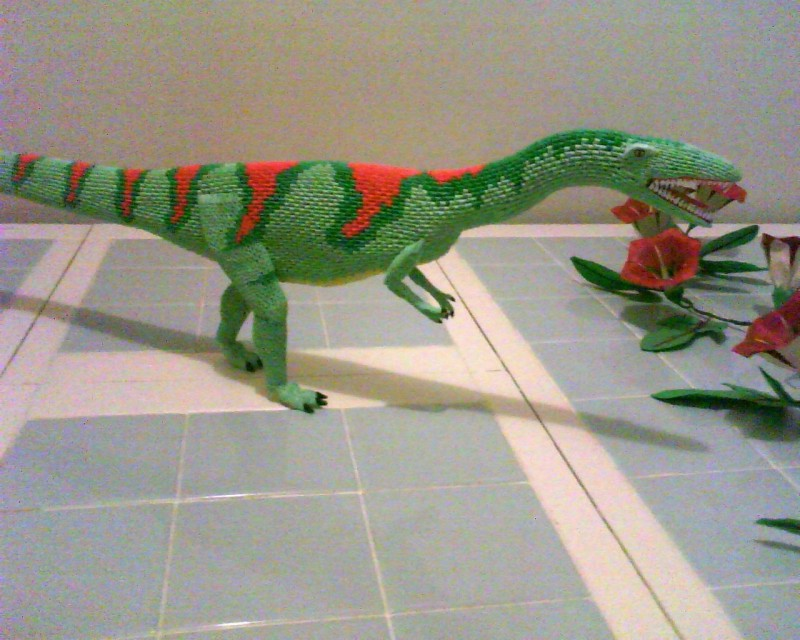 3d Origami Raptor